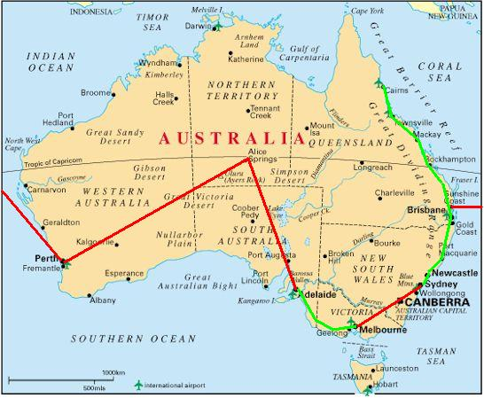 australia map from brisbane i flew to auckland new zealand and spent a month exploring north and south islands in a campervan meeting up with my family