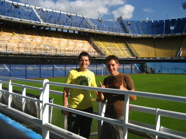At Boca Juniors ground
