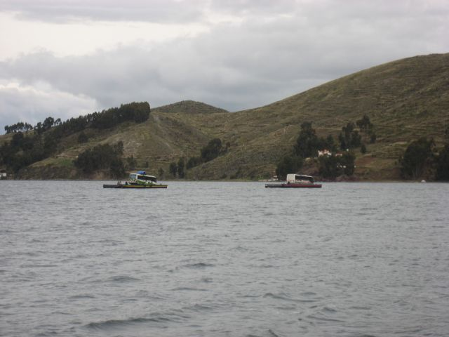 Crossing Lake Titicaca