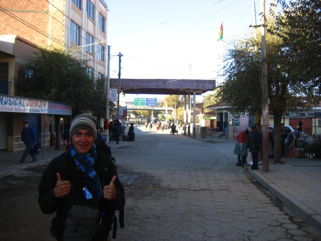 At the Bolvia Argentina border