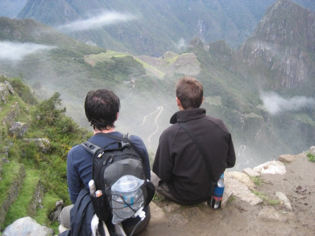 Overlooking Machu Picchu from the Sun Gate