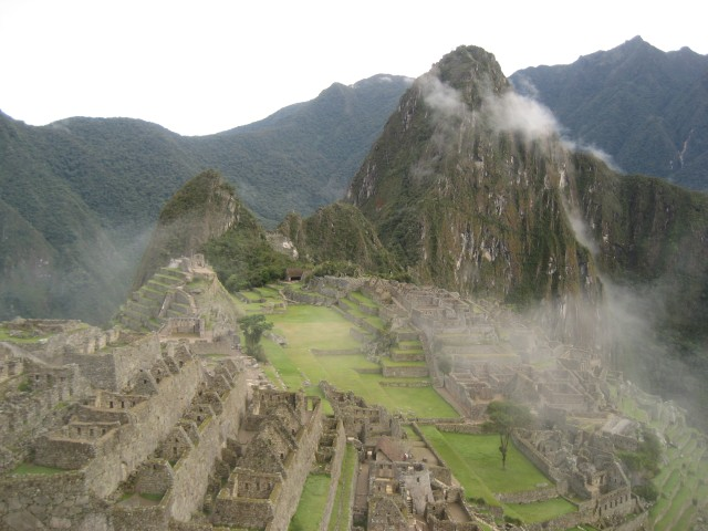 Postcard view of Machu Picchu