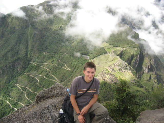 At the top of Wayna Picchu