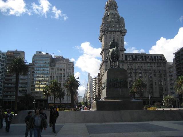 Main square in Montevideo