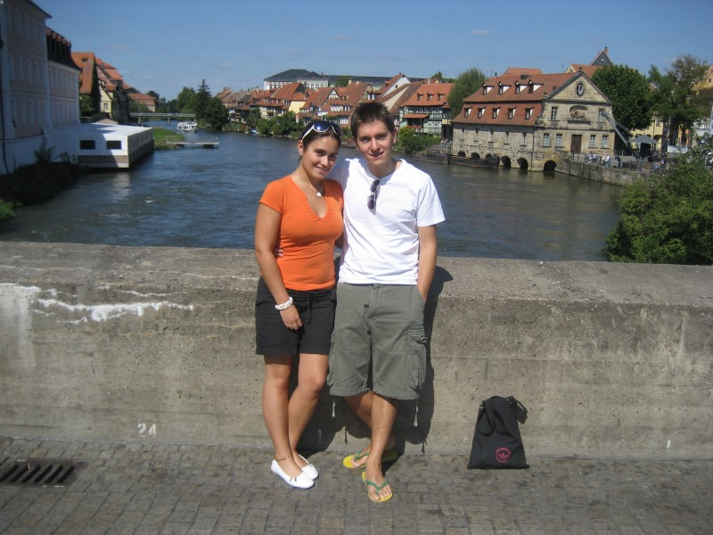 Lisa and Shep in Bamberg, Germany